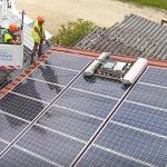Nettoyage d'une centrale photovoltaïque